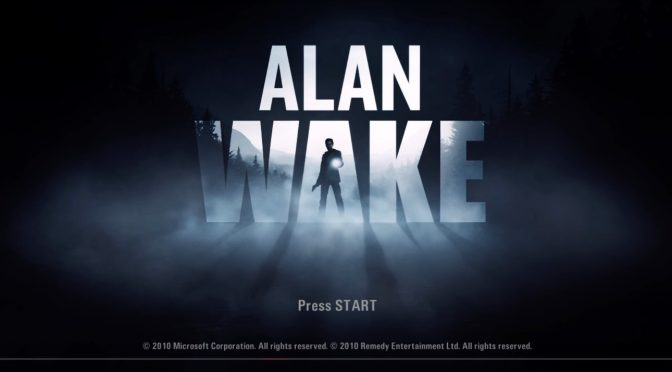 Alan Wake 光で闇のシールドを剥いで銃で撃つホラーゲーム